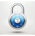 combination pad lock vector image vector image