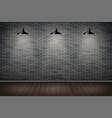 dark brick wall of prison vector image vector image