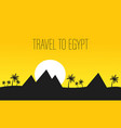 egypt travel banner with lettering text vector image