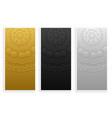 elegant and premium mandala banners set vector image vector image