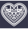 Folk heart pattern for Valentines Day vector image vector image