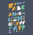 funny font type comic cartoon fun alphabet vector image