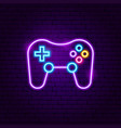 game playing neon sign vector image