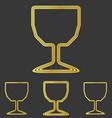 Golden line cup logo design set vector image vector image