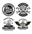 halloween set emblems badges or logos vector image vector image