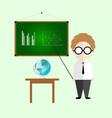 infographic cute teacher cartoon vector image vector image