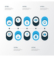 journey colorful icons set collection of vector image vector image