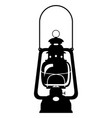 kerosene lamp old retro vintage icon stock vector image