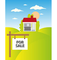 Land sale background vector image