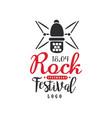 legendary rock festival logo 18 april black and vector image vector image
