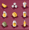 lemonade color gradient isometric set vector image vector image
