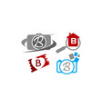 logotype b modern template set vector image vector image