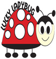 Lucky Ladybug vector image vector image