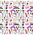 manicure instruments seamless pattern background vector image vector image