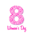 March 8 greeting card Background for Womans Day vector image vector image