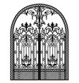 menal arched gate vector image vector image