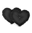 mock up black set pillow heart vector image vector image
