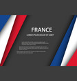 modern background with french colors vector image vector image
