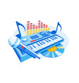 modern electronic musical instrument vector image