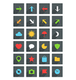 Modern thin web icons collection vector image vector image
