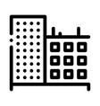 multi-storey building icon outline vector image vector image