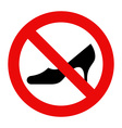 No high heels vector image vector image