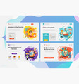 one page website kit for shopping and call center vector image