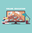 online education design concept vector image vector image