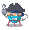 pirate character cartoon percussion musical vector image vector image