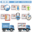 Postal Icons Set 10 vector image vector image