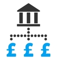 Pound Bank Payments Flat Icon Symbol vector image vector image