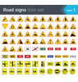 road signs warning signs complementary plates vector image vector image