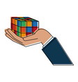 rubik cube puzzle vector image vector image