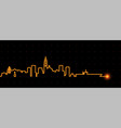 san diego light streak skyline vector image