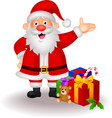 Santa cartoon with gifts vector image vector image