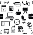 seamless doodle office pattern vector image