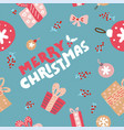 seamless repeating pattern with textured christmas vector image