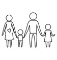 sketch silhouette of pictogram parents with mother vector image vector image