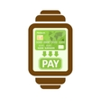 Smart watch payments vector image vector image