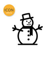 snowman icon isolated flat style vector image
