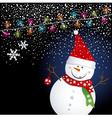 Snowman04 vector image vector image