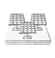 solar panels energy vector image vector image