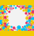 spring background with flower vector image