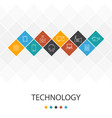 technology trendy ui template infographics concept vector image vector image