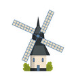 traditional ancient european windmill building vector image