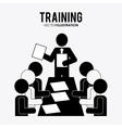 Training icon design vector image vector image