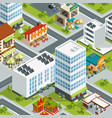 urban landscape with restaurants and coffee vector image