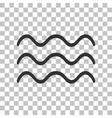 Waves sign Dark gray icon on vector image vector image