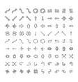 icons set different arrows and pointers on vector image