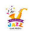 abstract logo for jazz festival live music vector image